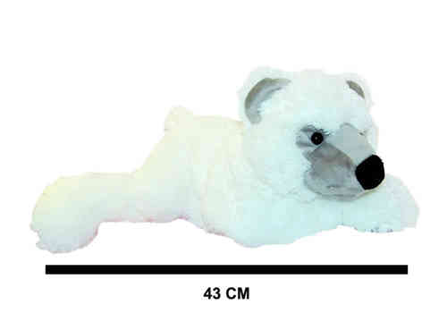 Peluche Ours blanc couche 60 cm