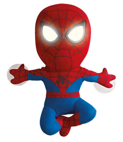 Veilleuse en peluche Spiderman Go Glow