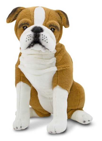 peluche chien bulldog anglais taille r elle 54 cm plushtoy. Black Bedroom Furniture Sets. Home Design Ideas