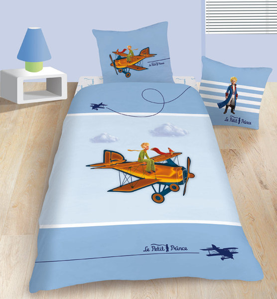 parure housse de couette le petit prince 3 d aviator plushtoy. Black Bedroom Furniture Sets. Home Design Ideas