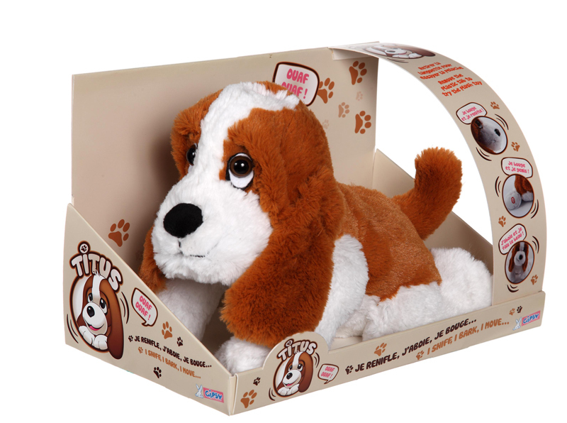 peluche chien titus 33 cm chien fonctions plushtoy. Black Bedroom Furniture Sets. Home Design Ideas