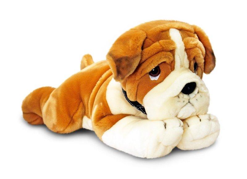 peluche chien bulldog de grande taille 90 cm. Black Bedroom Furniture Sets. Home Design Ideas