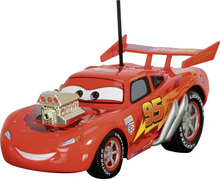 voiture t l command e disney cars mac queen hot rod 1 24 plushtoy. Black Bedroom Furniture Sets. Home Design Ideas