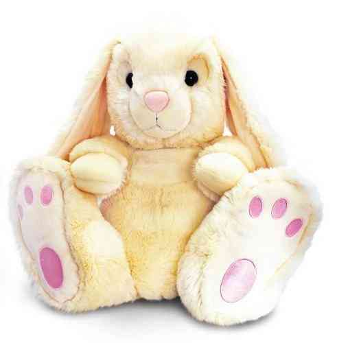 Peluche lapin blanc assis 25 cm kell toys
