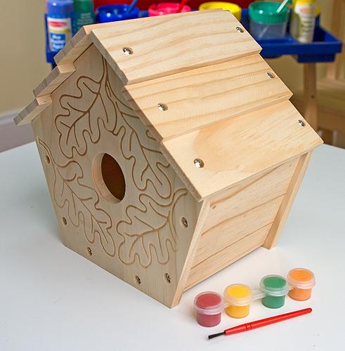 Maison a peindre pour oiseaux enfant plushtoy for Maison a peindre