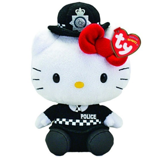 peluche hello kitty officier de police anglais plushtoy. Black Bedroom Furniture Sets. Home Design Ideas