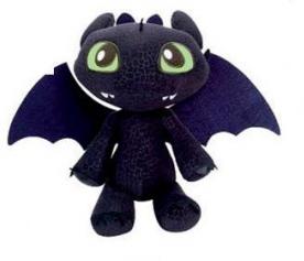 Peluche dragons dreamworks - Peluche furie nocturne ...
