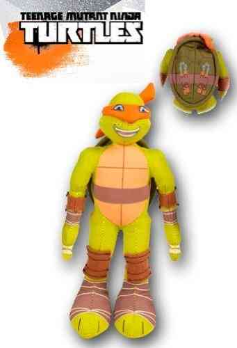 Peluche Michelangelo tortue ninja orange 31 cm