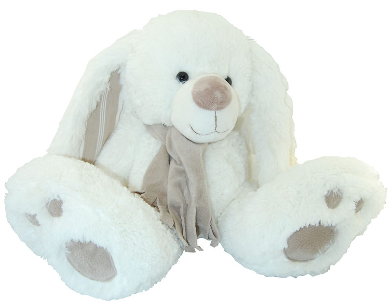 peluche lapin kalidou assis avec charpe 30 cm. Black Bedroom Furniture Sets. Home Design Ideas