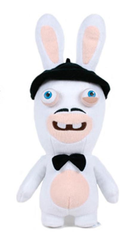 Peluche lapin cr tin moustache 35 cm - Housse de couette lapin cretin ...