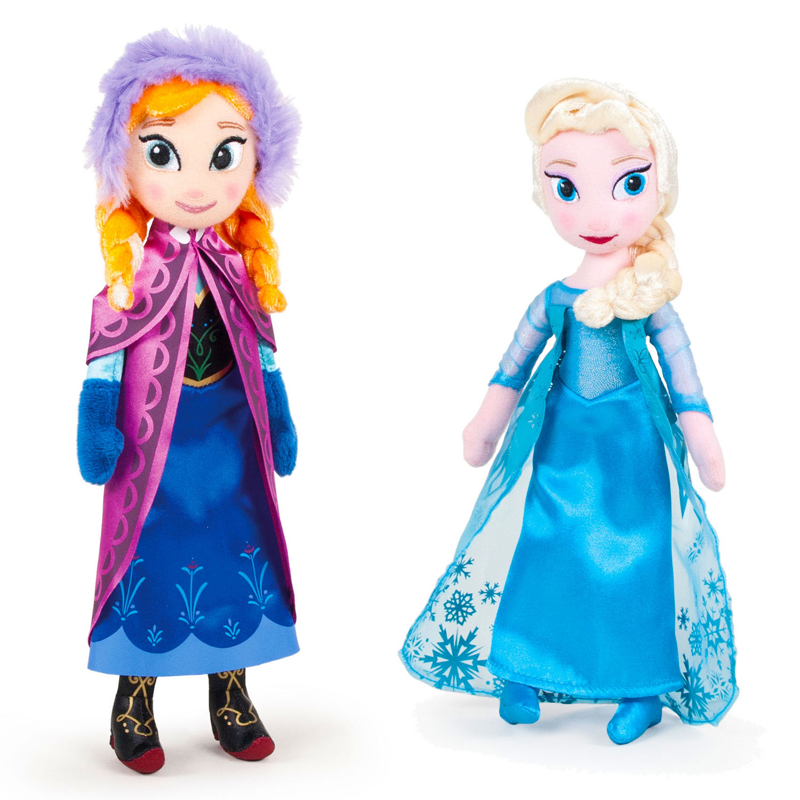 peluches la reine des neiges elsa et anna. Black Bedroom Furniture Sets. Home Design Ideas