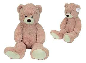 peluche geante ours rose