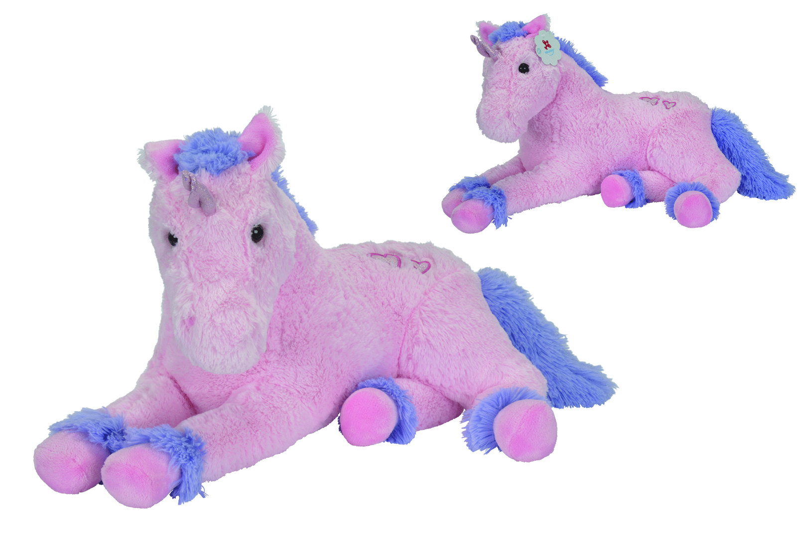 peluche licorne geante rose 1 metre 25 plushtoy. Black Bedroom Furniture Sets. Home Design Ideas