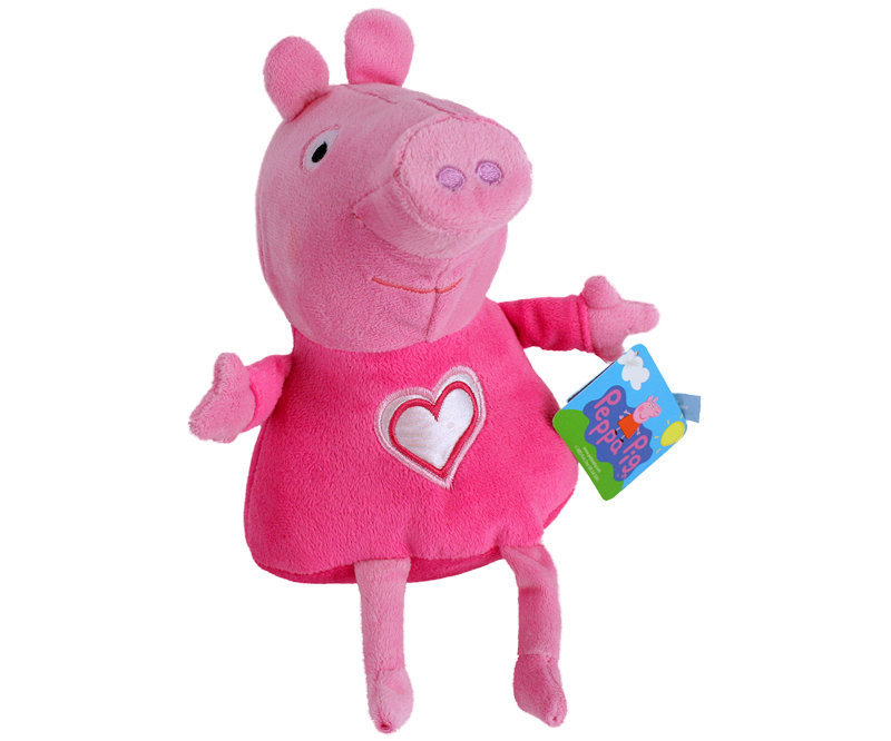 peluche peppa pig coeur 30 cm plushtoy. Black Bedroom Furniture Sets. Home Design Ideas