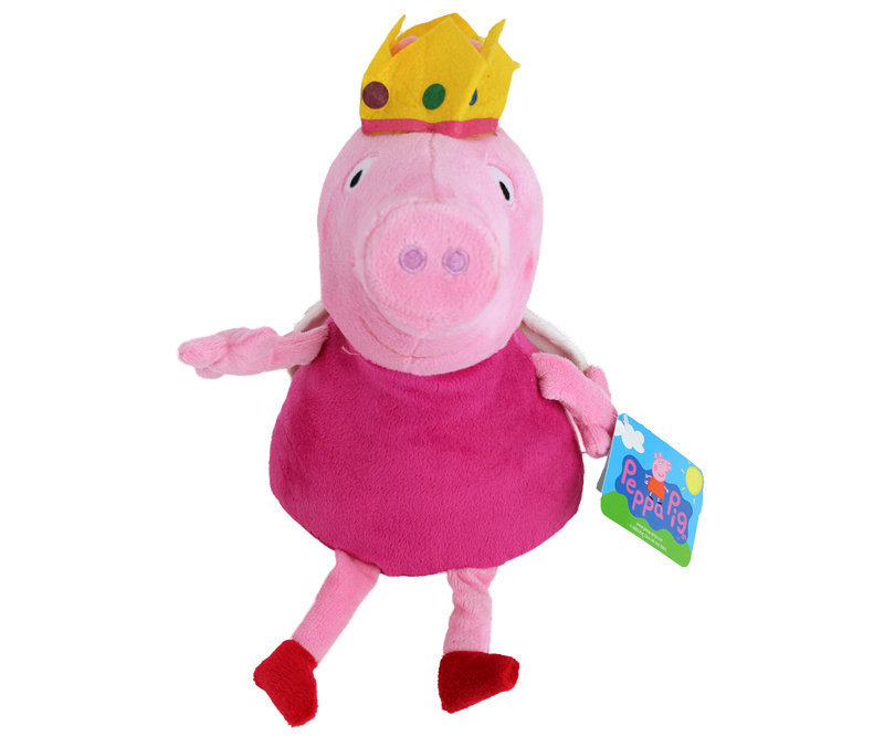 peluche peppa pig reine jaune 30 cm plushtoy. Black Bedroom Furniture Sets. Home Design Ideas