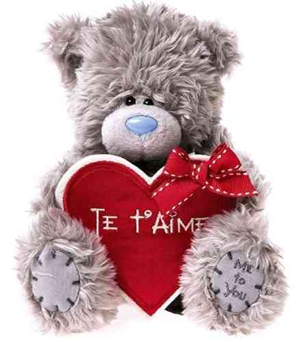 Peluche Me To You Ours grand coeur 18 cm