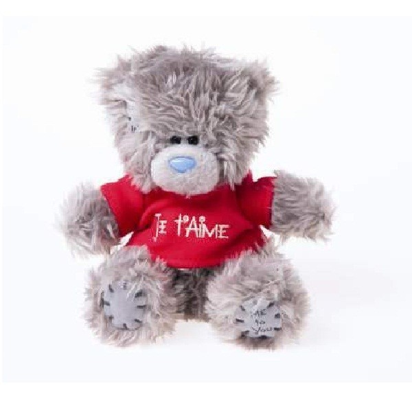 peluche me to you ours t shirt je taime 15 cm