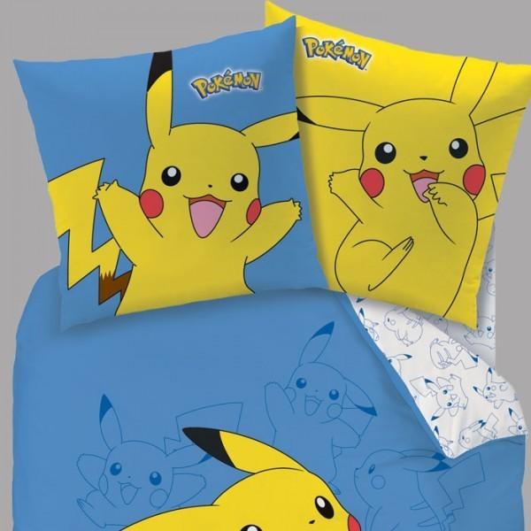 Housse de couette pokemon pikachu 140 x 200 cm taie - Housse de couette pokemon 2 personnes ...