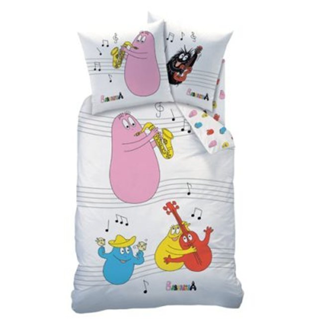 housse de couette barbapapa swing 140 x 200 cm taie. Black Bedroom Furniture Sets. Home Design Ideas