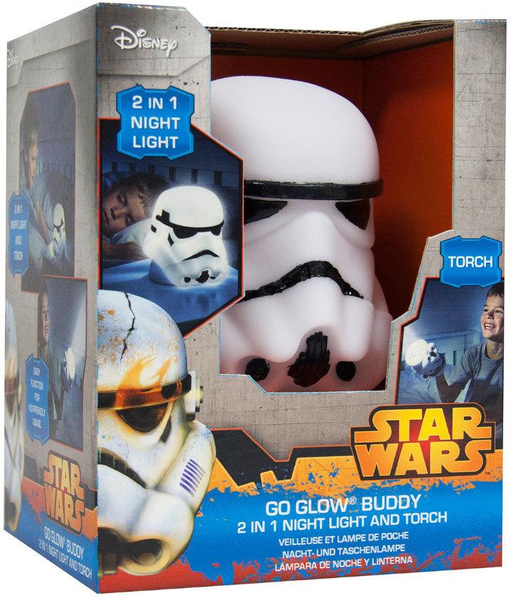 veilleuse le torche wars go glow buddy trooper plushtoy