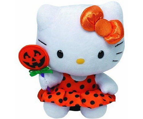 Peluche Hello Kitty 15 cm Halloween orange
