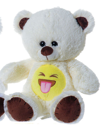 Peluche Ours emoticon tire la langue 60cm
