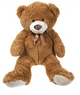 Peluche ours deluxe 1m marron