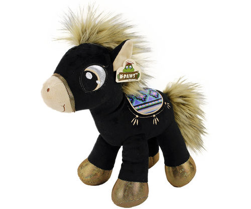 Peluche cheval natural 66 cm debout