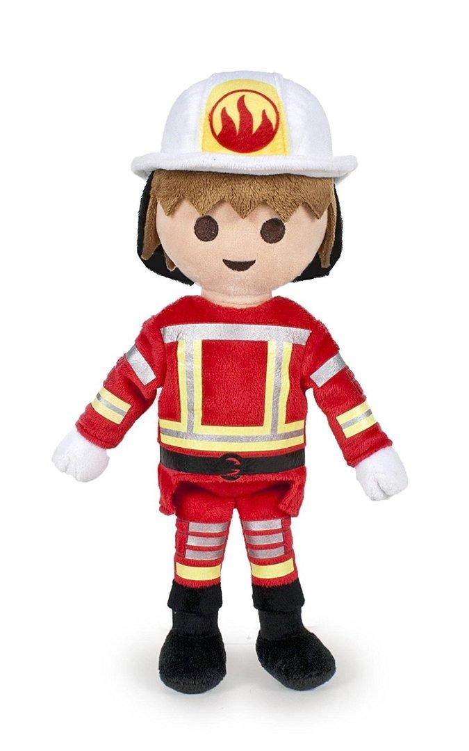 peluche playmobil pompier 30 cm - Playmobil Pompier