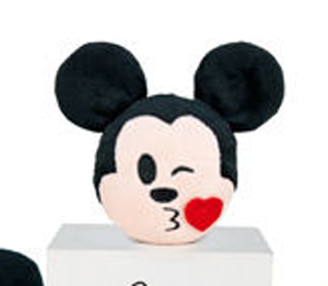 Peluche Disney Emoji Mickey Bisou 10 Cm