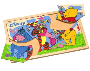 DISNEY PUZZLE A CADRE NORMAL 7 PCS ( winnie , tigrou , bourriquet , porcinet , efelant )