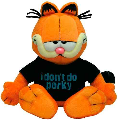 peluche Garfield I Dont Do Perky 20 cm
