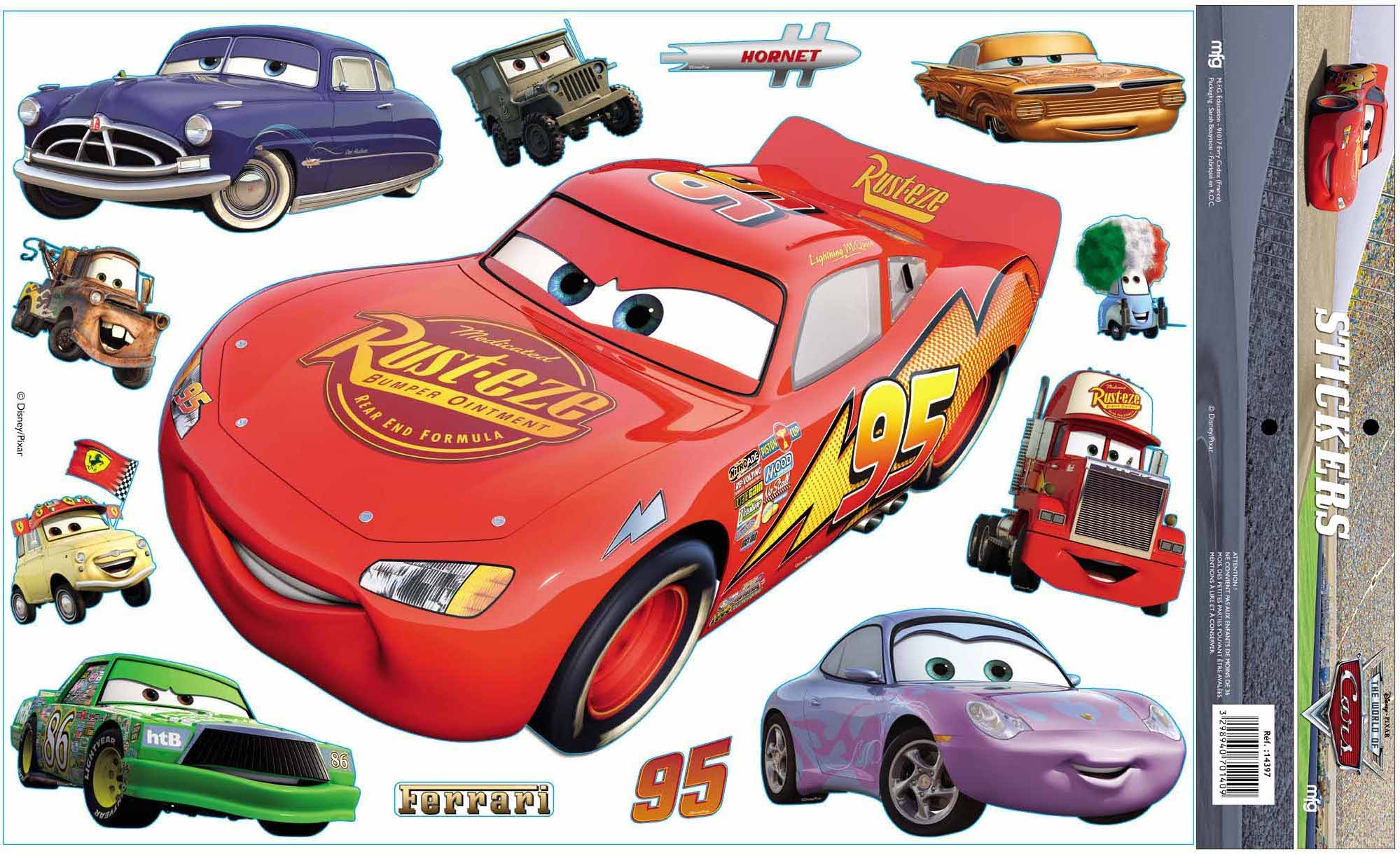 Sticker cars disney mural super geant 47 cm - Cars dessin a imprimer ...