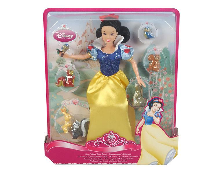 Poup e princesse disney blanche neige et ses amis animaux 30 cm - La princesse blanche neige ...