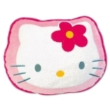 Coussin peluche Tête Hello Kitty 45 cm