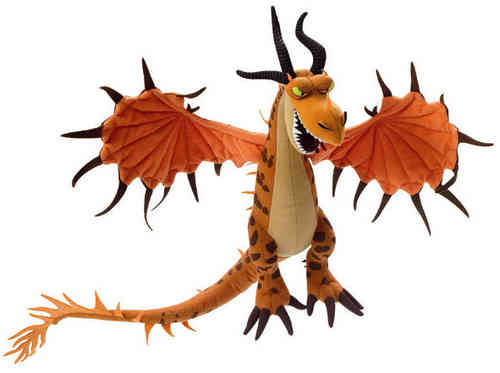 Peluche Dragons Orange Dreamworks 28 cm