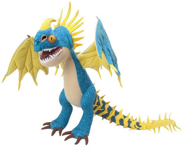 Peluche dragons dreamworks bleu jaune 50 cm - Peluche furie nocturne ...