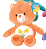 Peluche Bisounours Orange Groscopain 30 cm extra doux