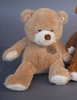 Peluche ours patch 25 cm Marron Clair
