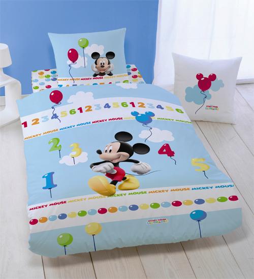 Parure Housse De Couette Disney Mickey 123 140 X 200 Taie D