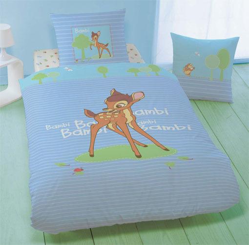 Parure Housse De Couette Disney Bambi En Flanelle 140 X 200 Cm