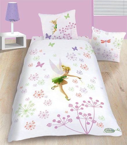parure housse de couette la f e clochette fairies magic disney 140x200 cm taie d 39 oreiller 63x63 cm. Black Bedroom Furniture Sets. Home Design Ideas