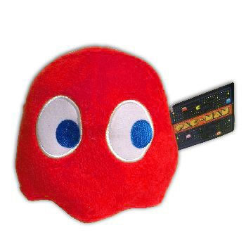 Peluche Pac Man 15 cm Blinky rouge
