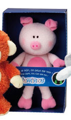 Peluche Luminou Cochon Rose 26 cm