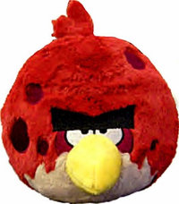 Peluche Angry Birds Edition Limitée 13 cm Rouge