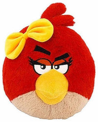 Peluche Angry Birds Fille 13 cm Fille rouge