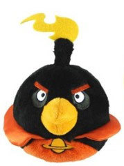 Peluche Angry Birds Space Noir 13 cm