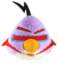 Peluche Angry Birds Space Violet 13 cm