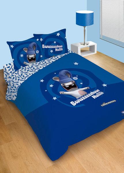 housse de couette drap housse lapin cr tin 2 places. Black Bedroom Furniture Sets. Home Design Ideas
