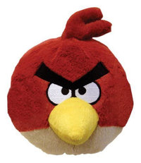 Peluche Angry Birds Sonore rouge 10 cm